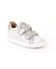 FRODDO GIRL'S DOUBLE VELCRO SILVER SNEAKERS