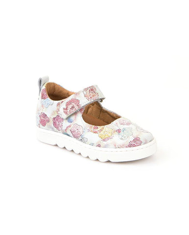 Froddo Girl's Velcro Shoe with Flower Print