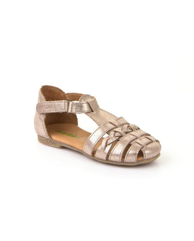 FRODDO GIRL'S GOLD T-BAR SANDAL