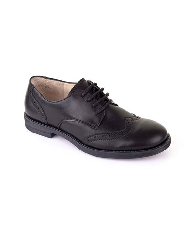 BOYS BLACK SCHOOL SHOES WITH LACES