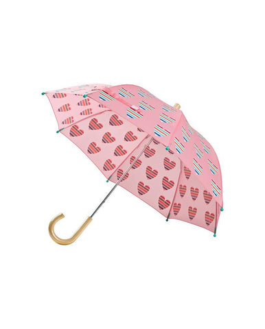 HATLEY MULTICOLOUR HEARTS UMBRELLA