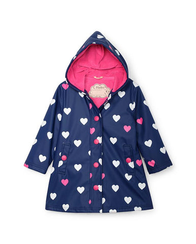 HATLEY STRIPED HEARTS COLOUR CHANGING SPLASH JACKET