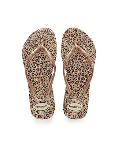 HAVAIANAS SLIM ANIMALS BEIGE/ROSE GOLD/ROSE GOLD 4103352-5046