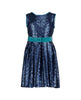 BEAU NAVY SEQUIN DRESS