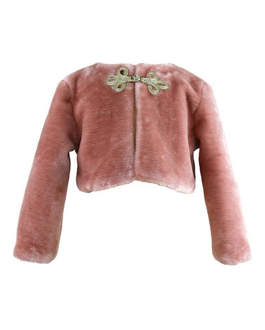JACKIE PINK FAUX FUR JACKET