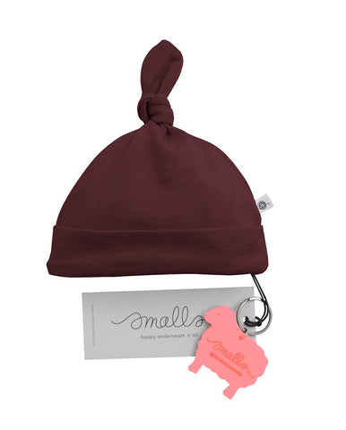 SMALLS FLUORO BERRY MARLE CONTRAST STITCH HAT