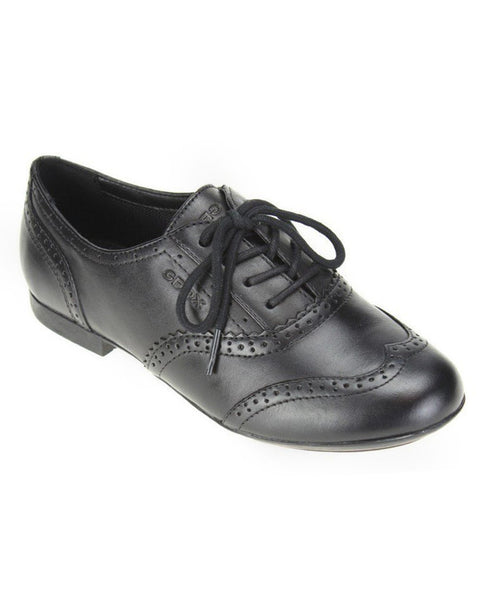 GEOX SCHOOL J PLIE BLACK SHOES