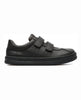 CAMPER RUNNER SCHOOL SHOES, BLACK VELCRO