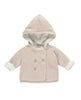 LITTLE TAILOR PRAM COAT PLUSH LINED PINK