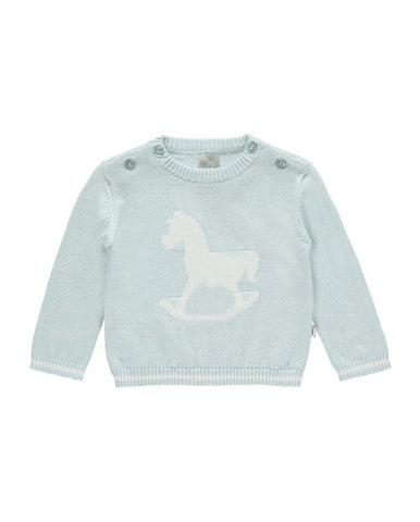 LITTLE TAILOR ROCKING HORSE JUMPER BLUE
