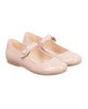 MANUELA DE JUAN GIRLS PALE PINK PATENT LEATHER 'MIMI' PUMPS