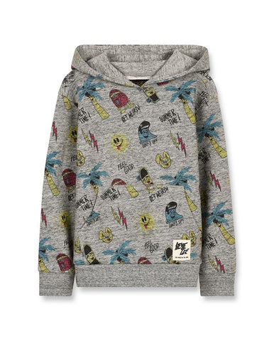MELBOURNE HEATHER GREY STEVIE GEE   - UNISEX KNITTED HOODY 192-861-080SG