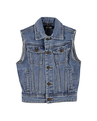 MOLO HARRY VEST STONE BLUE