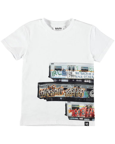 MOLO RAVEN T-SHIRTS SS SUBWAY STRIPE
