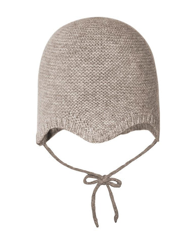 MP DENMARK CASSIDY BABY BONNET LIGHT BROWN MARLED