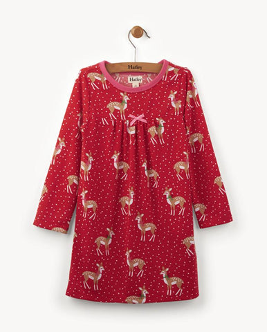 HOLIDAY DEER CHEER NIGHT DRESS