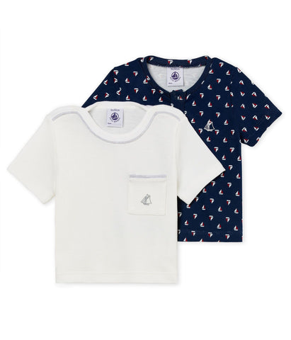PETIT BATEAU BABY BOY'S T-SHIRT - SET OF 2