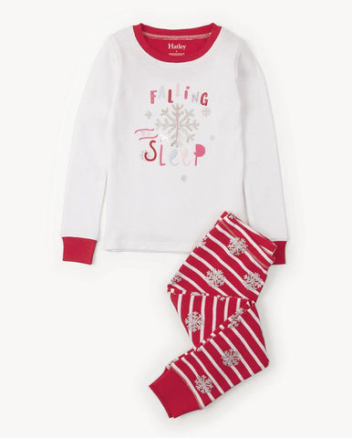 CANDY CANE APPLIQUÉ HENLEY PAJAMA SET