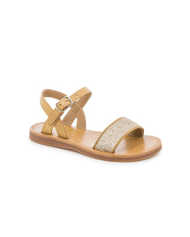 POM D'API GIRLS SANDALS PLAGETTE BUCKLE TAO BALL/GLITTER G-1-FG-D804-CS