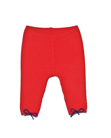 ANGEL-WOOL LEGGINGS-CORAL RED