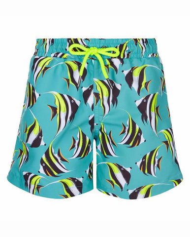 BOYS SWIM SHORT TROPICAL FISH