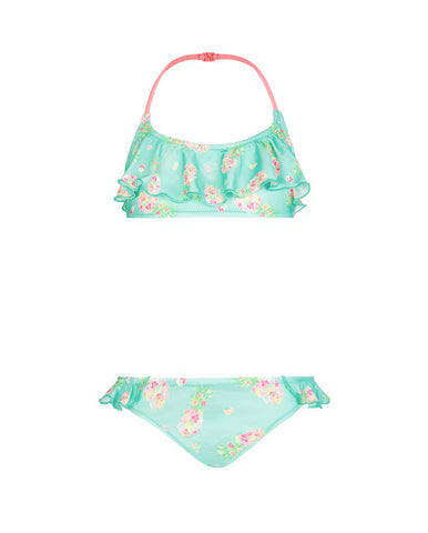 GIRLS NEW FRILL BIKINI PINEAPPLE DITSY