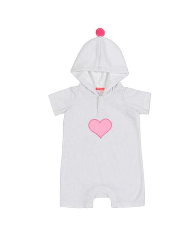 SUNUVA BABY GIRLS WHITE TOWELLING ONESIE