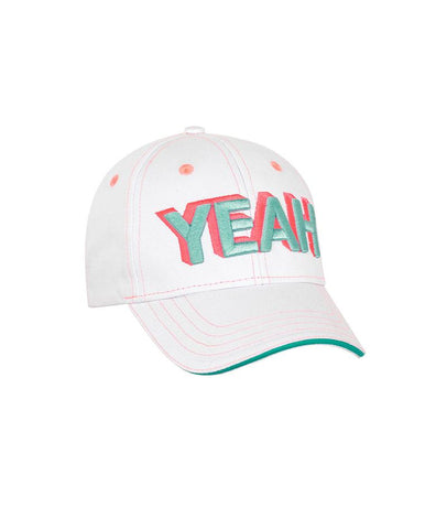 SUNUVA GIRLS 'YEAH' CAP - WHITE