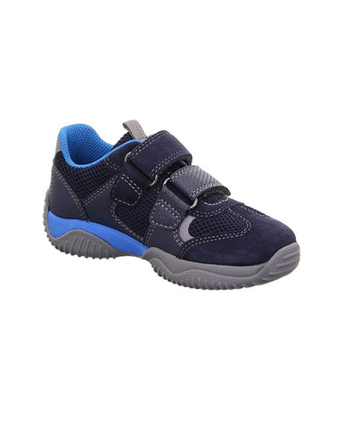 32f68b0b838 SUPERFIT BOY'S NAVY/BLUE TRAINER WITH DOUBLE VELCRO