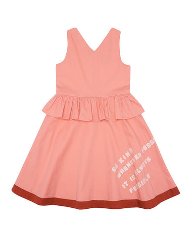 THE MIDDLE DAUGHTER DRESS IN KIND JUICY PEACH