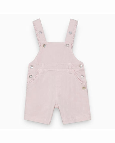 PALE PINK SWISS DOT DUNGAREES