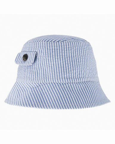 BOYS BLUE & WHITE SUN HAT
