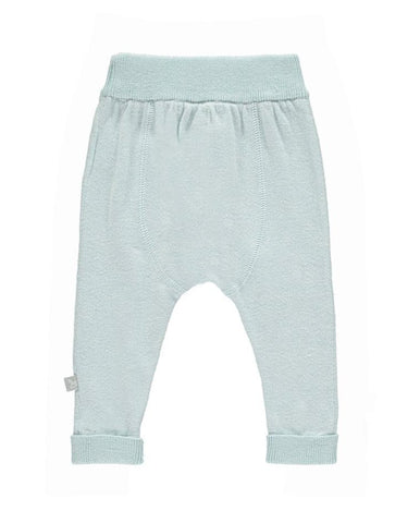 THE LITTLE TAILOR KNITTED CASHMERE MIX PANTS BLUE