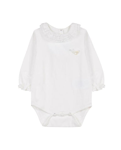 TARTINE ET CHOCOLAT PEARLY-WHITE BODYSUIT