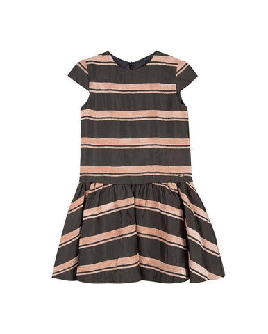 TARTINE ET CHOCOLAT GIRLS GREY CHINA DRESS