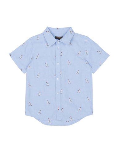 VELVETEEN OSCAR: EMBROIDERED SHORT SLEEVE SHIRT