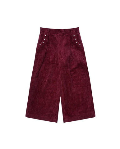 VELVETEEN SHANNON - WIDE LEG TROUSERS W/ STUDDED POCKETS