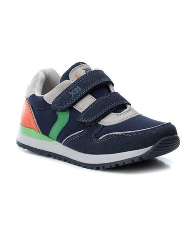 XTI NAVY SUEDE PU COMBINED KIDS SHOES