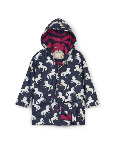 HATLEY PLAYFUL HORSES COLOUR CHANGING RAINCOAT