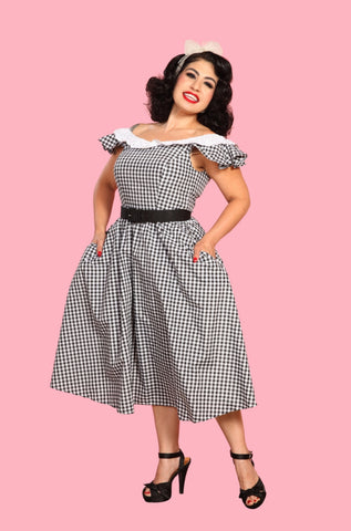 Country Chic Gingham Dress