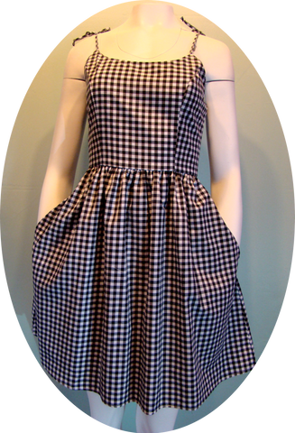 Black and White Gingham Summer Dress