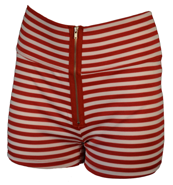 Red Candy Stripe Shorts