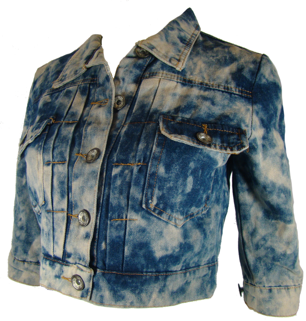 Cropped Acid Washed Jean Jacket