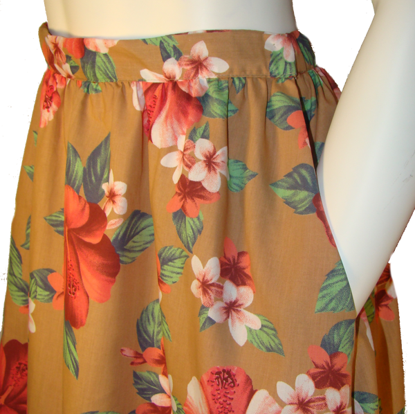 Floral Skirt with Pockets