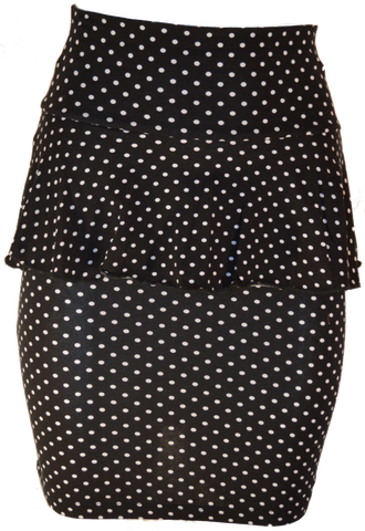 Polka Dot Pemplum Skirt
