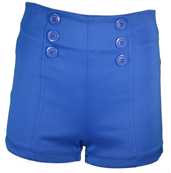 Royal blue sailor shorts