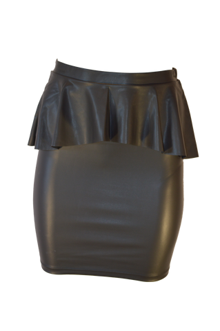 Shiny Pemplum Pencil Skirt