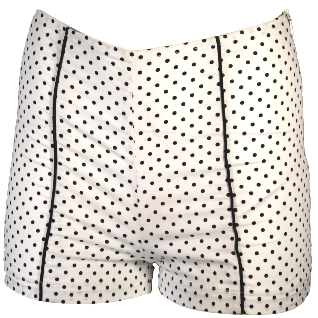 High waisted shorts with piping