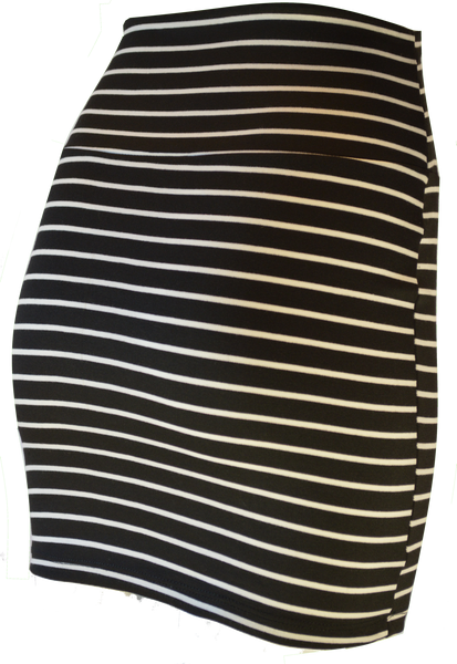 Zipper front stripe skirt
