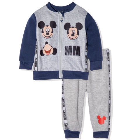 Disney Mickey Mouse Baby Boys Outfit Set Tracksuit 3-24 Months - Blue